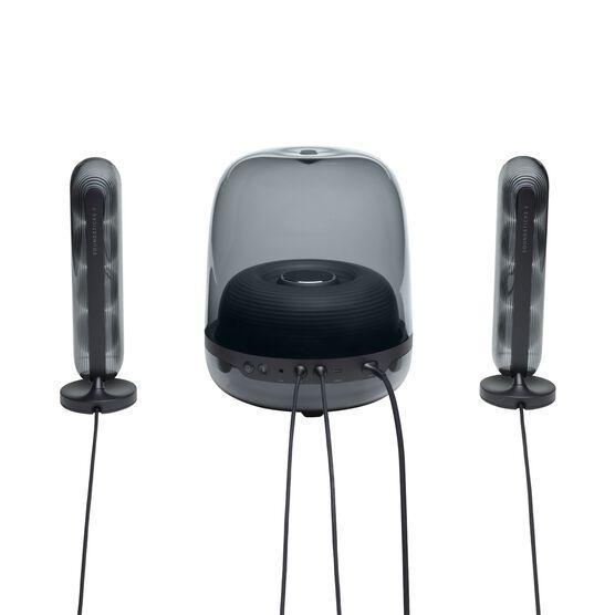 Harman Kardon SoundSticks 4 - Black - Bluetooth Speaker System - Back