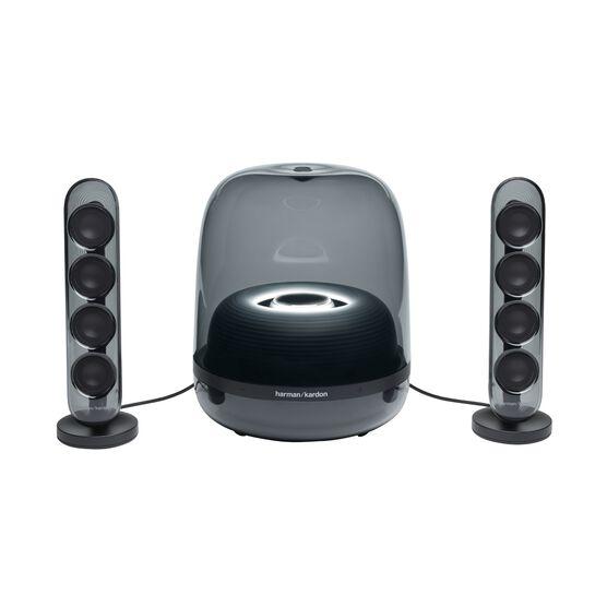 Harman Kardon SoundSticks 4 - Black - Bluetooth Speaker System - Front